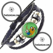 Load image into Gallery viewer, Adventure Time Leather Bracelet - Jewelry - TheGeekLeak.com