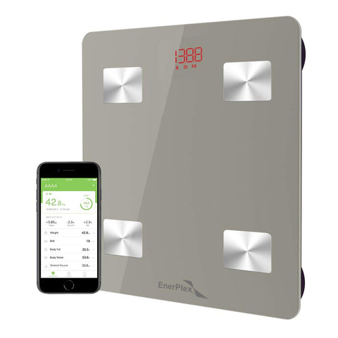 Bluetooth Compatible Digital Bathroom Scale - Grey