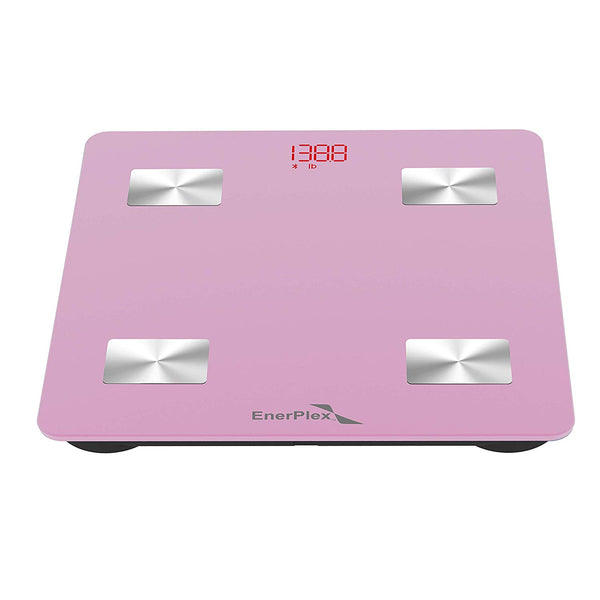 Bluetooth Compatible Digital Bathroom Scale - Pink