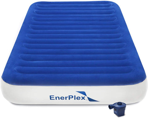 "9"" High Twin Size Luxury Camping Air Mattress - Wireless Pump"