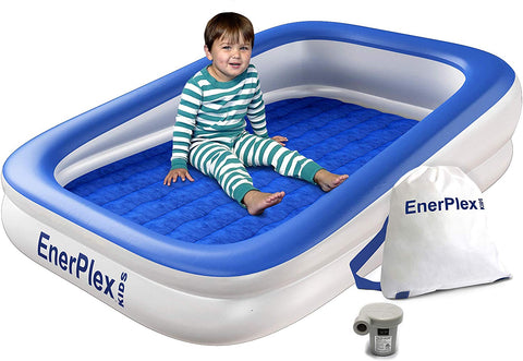 Kids Inflatable Toddler Air Mattress - Blue