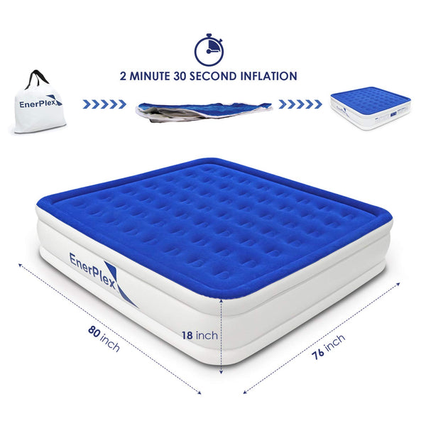 "18"" High King Air Mattress with Built-in Pump"