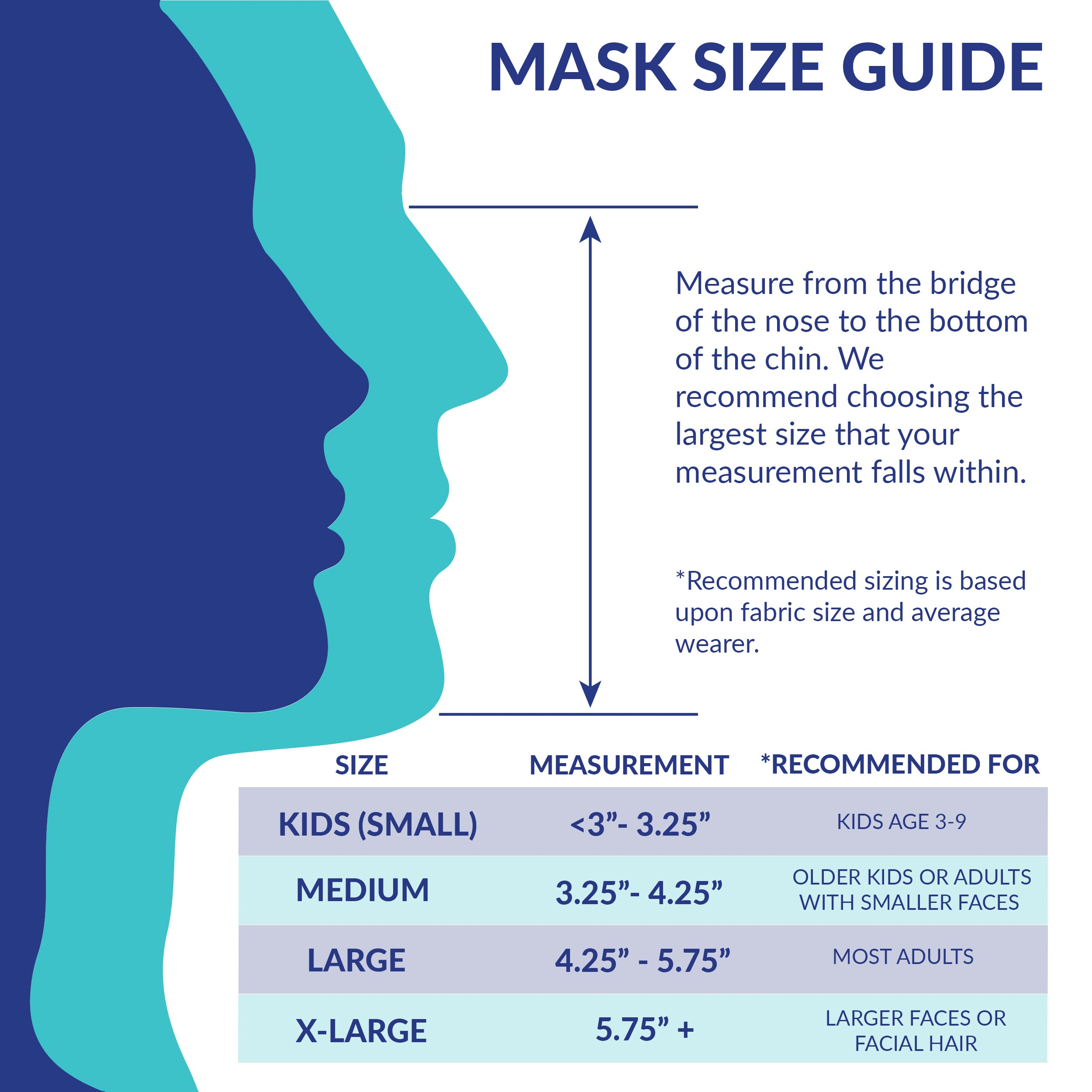 Premium Reusable Fabric Face Mask - 3-Pack