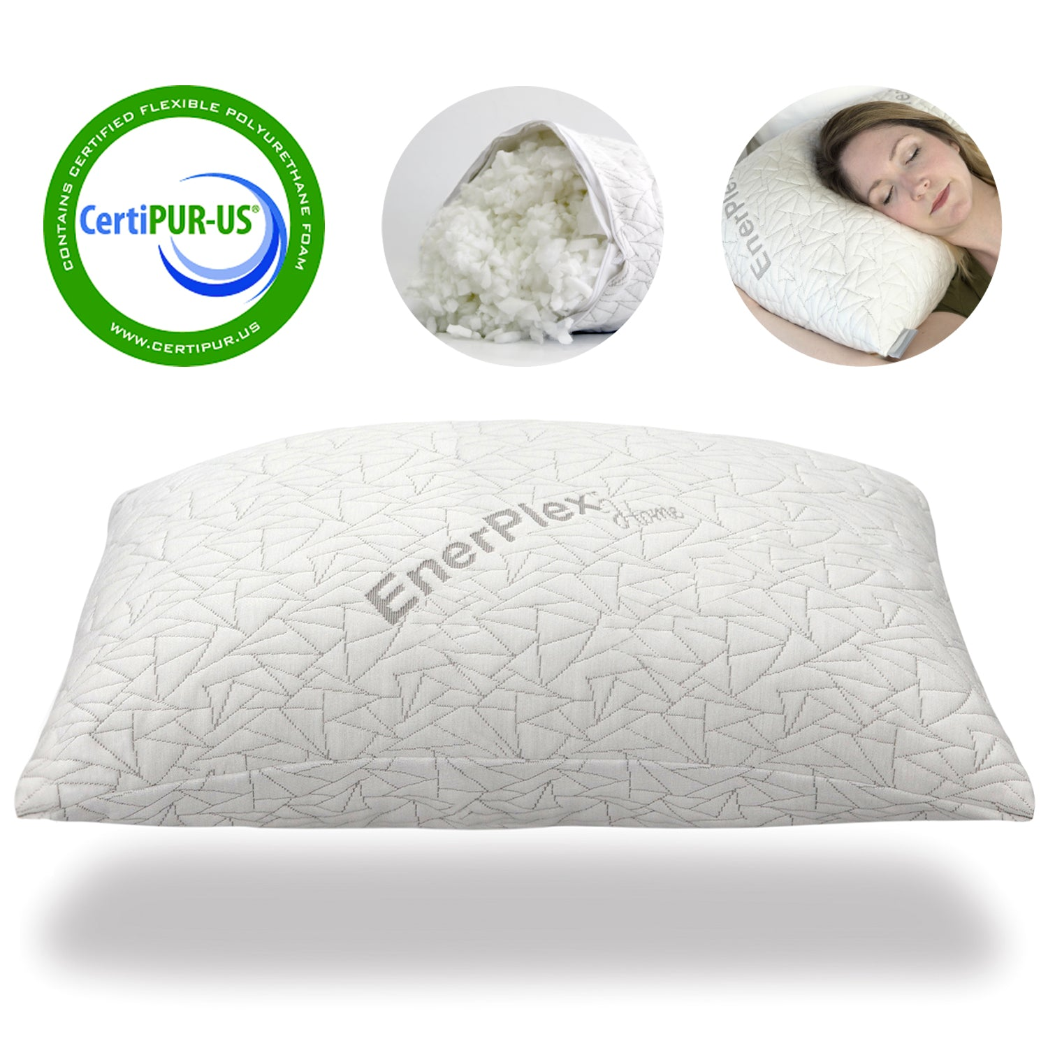 Adjustable Shredded Memory Foam Queen Size Pillow