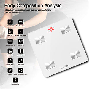 Bluetooth Compatible White Digital Smart Scale-enerplex