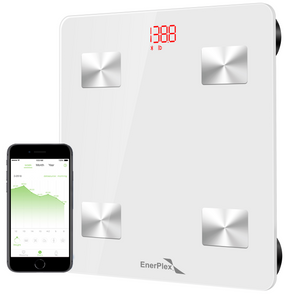 Bluetooth Compatible Digital Bathroom Scale - White