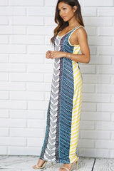 Scoop Neckline Sleeveless Maxi Dress