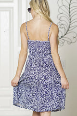 FLORAL PRINT KONT FRONT  BUTTON CAMI DRESS