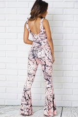 SLEEVELESS BOOT CUT PANTS JUMPSUITS