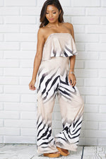 OFF SHOULDER SLEEVELESS JUMPSUITS