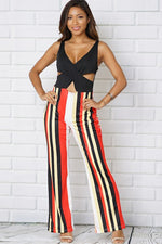 ONE PIECE JUMPSUIT THIN STRAPS CRISS CROSS FRONT