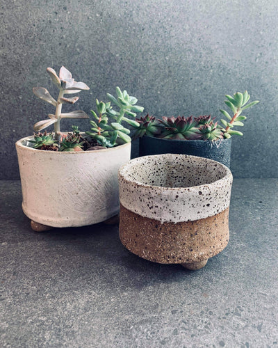 Ceramics Workshop - Footed planter set