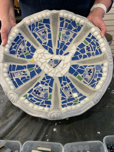 Mosaic Water Bowl Workshop