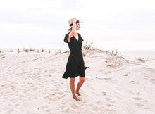 Load image into Gallery viewer, THE HATTIE DRESS - BLACK