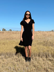 THE HATTIE DRESS - BLACK