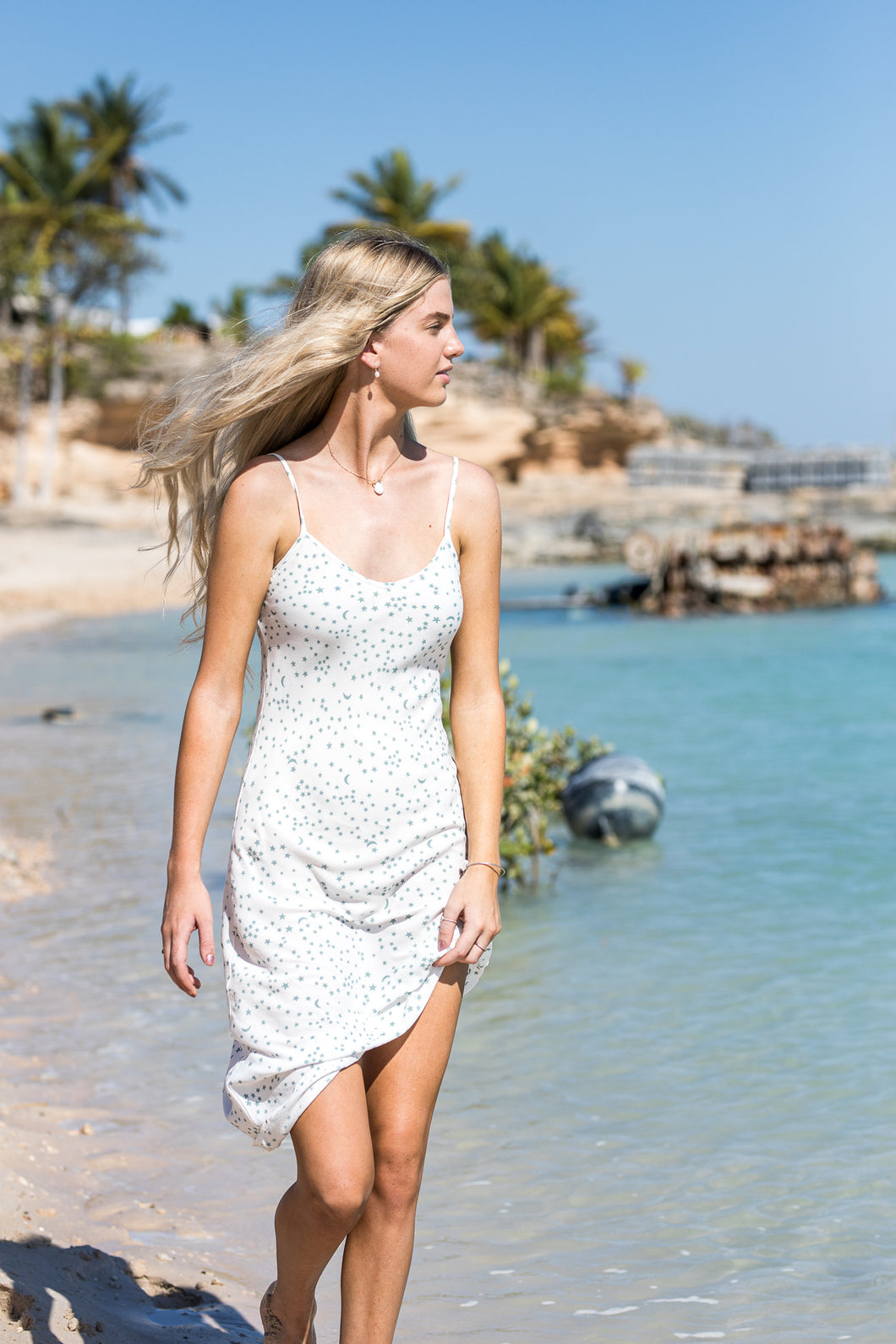 THE FLORENCE DRESS - WHITE STAR