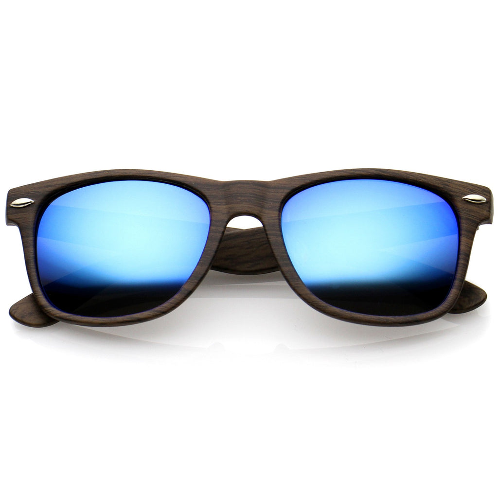 a265828bc6 Classic Wood Printed Colored Mirror Square Lens Horn Rimmed Sunglasses –  Ulter Ego