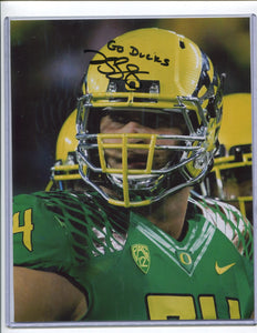 "KYLE LONG Autographed 8x10 Photo ""Go Duck"" Oregon Ducks"