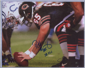 "PATRICK MANNELLY Autographed 8x10 Photo ""SB XLI"" Chicago Bears"