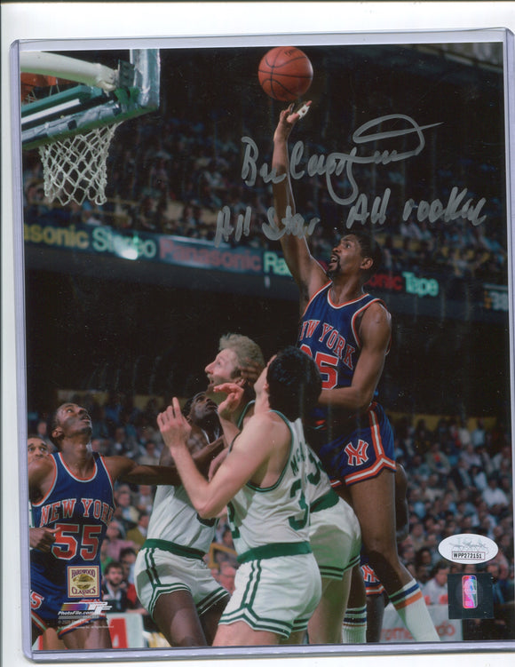 "BILL CARTWRIGHT Autographed 8x10 Photo #3 ""All Star - All Rookie"" New York Knicks JSA COA"