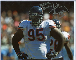 "ANTHONY ADAMS Autographed 8x10 Photo Chicago Bears ""Bear Down"""
