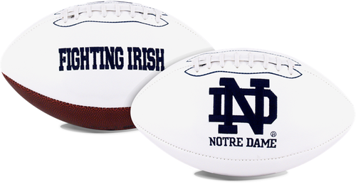 Unsigned Item - Notre Dame Fighting Irish White Panel Signature Series Full Size Team Football