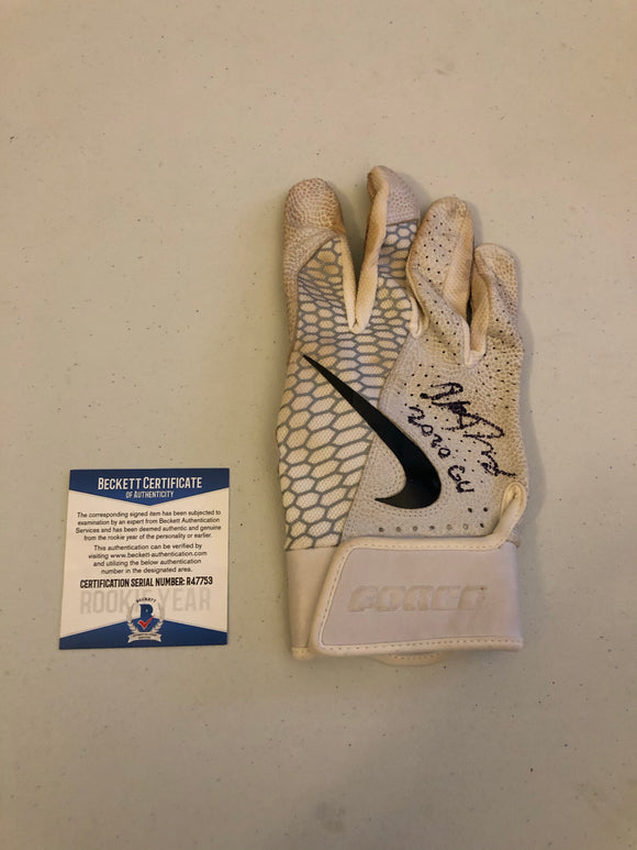 ALEK THOMAS Autographed 2020 GAME USED Nike Batting Glove Arizona Diamondbacks Beckett COA #3