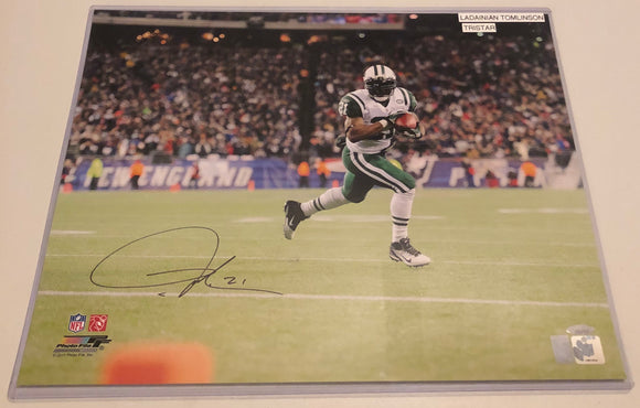 LaDAINIAN TOMLINSON Autographed 16x20 Photo New York Jets TriStar COA