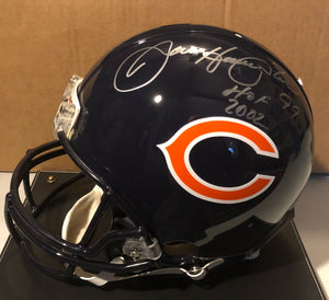 DAN HAMPTON & OTIS WILSON Dual Autographed Chicago Bears Navy Authentic Full Size Helmet JSA COA