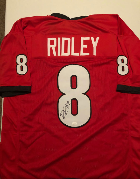 RILEY RIDLEY Autographed Georgia Bulldogs Red Football Jersey JSA COA