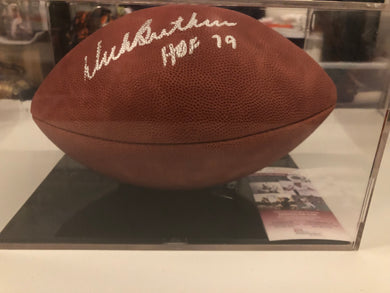 "Dick Butkus Autographed Brown Leather NFL Official Game Ball ""HOF 79"" JSA COA"