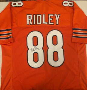 RILEY RIDLEY Autographed Chicago Bears Orange Football Jersey JSA COA