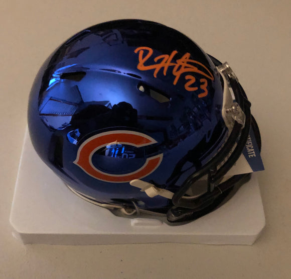 DEVIN HESTER Autographed Alternative Chrome Chicago Bears Mini Helmet Beckett COA