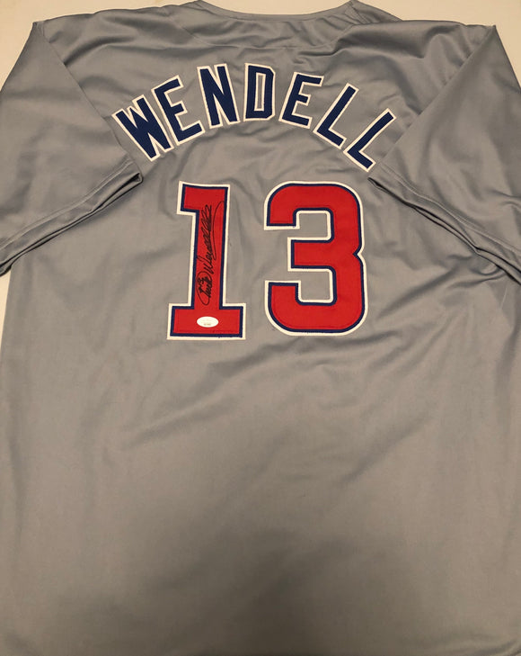 TURK WENDELL Autographed Grey Chicago Cubs Jersey JSA COA