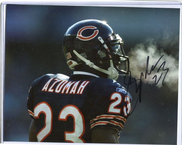 JERRY AZUMAH Autographed 8x10 Photo #2 Chicago Bears