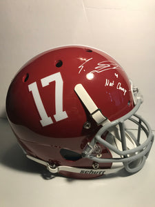 EDDIE JACKSON Autographed Inscription #4 Nat. Champ Alabama Crimson Tide Schutt Replica Full Size Helmet JSA COA