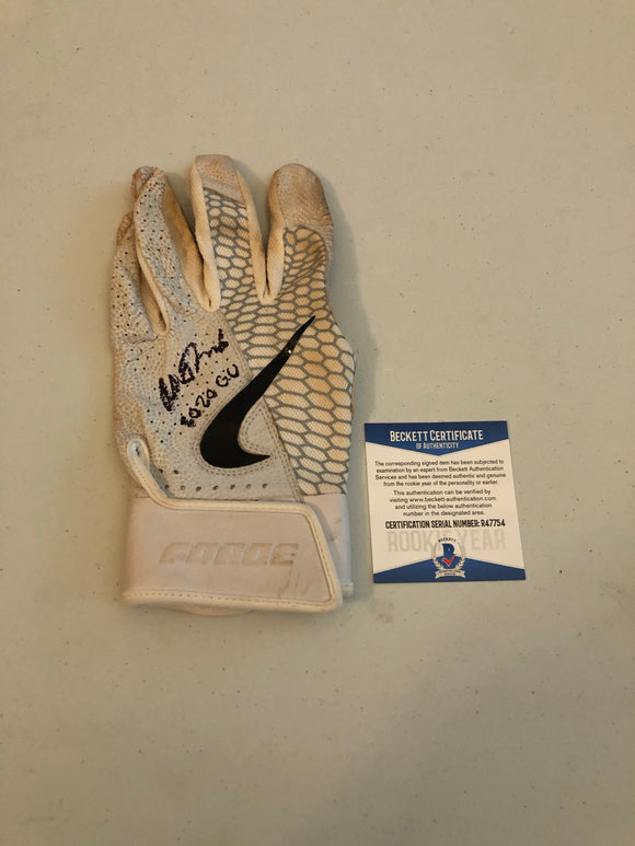 ALEK THOMAS Autographed 2020 GAME USED Nike Batting Glove Arizona Diamondbacks Beckett COA #4