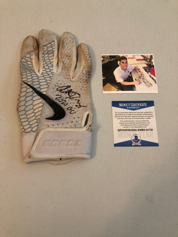 ALEK THOMAS Autographed 2020 GAME USED Nike Batting Glove Arizona Diamondbacks Beckett COA #1