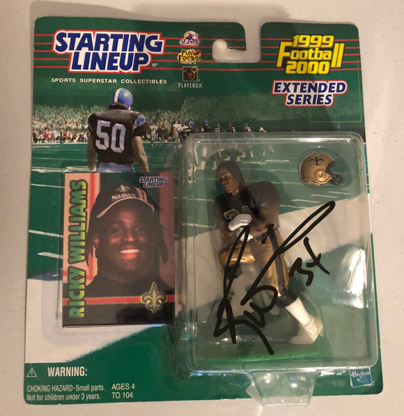 RICKY WILLIAMS Autographed 1999 Starting Lineup Figure New Orleans Saints JSA COA