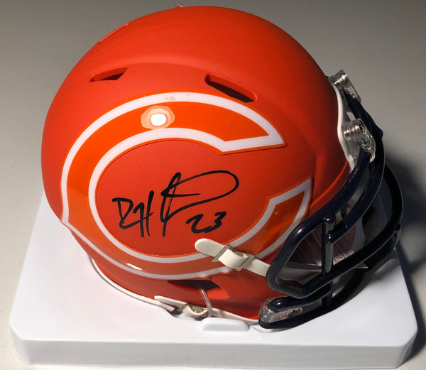 DEVIN HESTER Autographed Amp Chicago Bears Mini Helmet with JSA COA