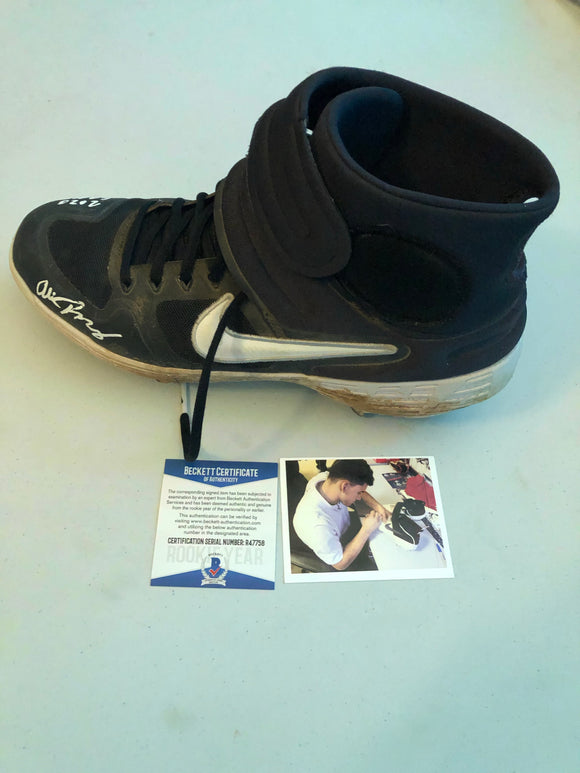 ALEK THOMAS Autographed 2020 GAME USED Nike Baseball Cleat Size 10.5 Arizona Diamondbacks Beckett COA #2