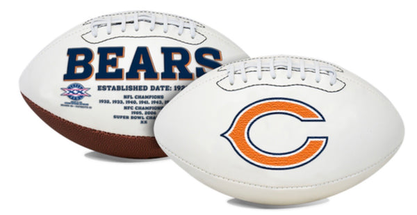 Unsigned Item - Chicago Bears White Panel Signature Series Full Size Team Football