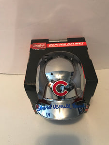 ED HOWARD Autographed Full Name Alternative Chrome Chicago Cubs Mini Helmet Beckett COA