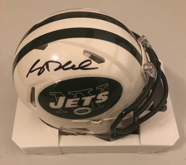 Sam Darnold Autographed New York Jets White Speed Mini Helmet JSA COA