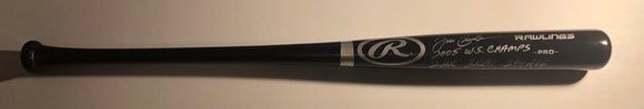 JOE CREDE Autographed Rawlings Black Full Size Wood Bat