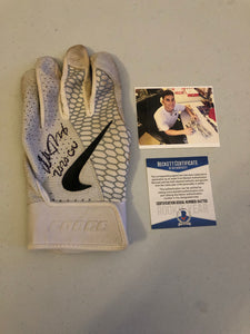 ALEK THOMAS Autographed 2020 GAME USED Nike Batting Glove Arizona Diamondbacks Beckett COA #2