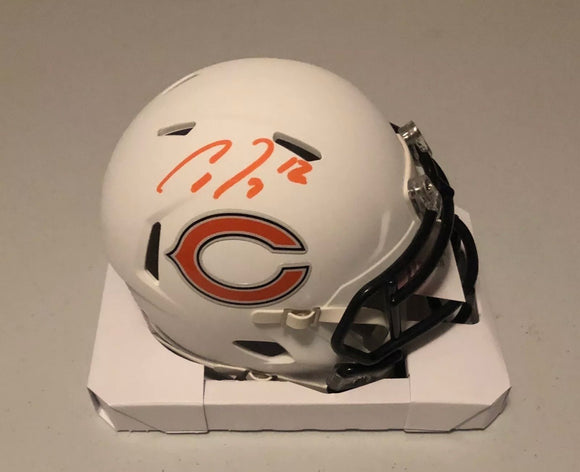 ALLEN ROBINSON II Autographed Chicago Bears Alternative Flat White Mini Helmet JSA COA