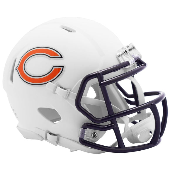 Unsigned Item - Riddell Chicago Bears Alternative Flat White Speed Mini Helmet