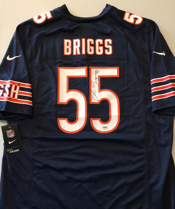 LANCE BRIGGS Autographed Nike Authentic Chicago Bears Navy Football Jersey PSA/DNA COA