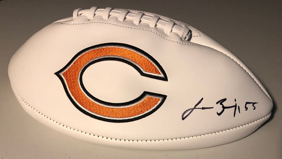 LANCE BRIGGS Autographed Chicago Bears White Panel Football JSA COA